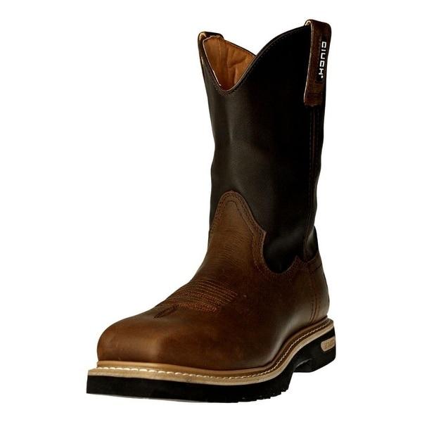 Cinch Work Boots Mens WRX WP Journeyman ST Square Dark Brown