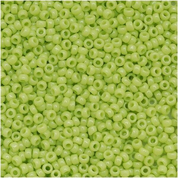 Toho Round Seed Beads 15/0 44 'Opaque Sour Apple' 8 Gram Tube