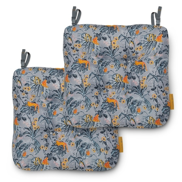 Vera Bradley Water-resistant Patio Chair Cushions (Set of 2). Opens flyout.