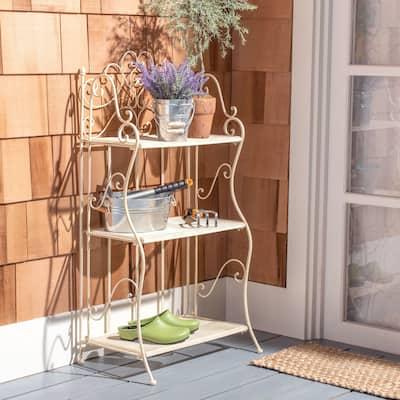 "SAFAVIEH Outdoor Living Torus Victorian Iron 3-Tier Shelf - 22.0"" W x 14.2"" L x 42.5"" H"