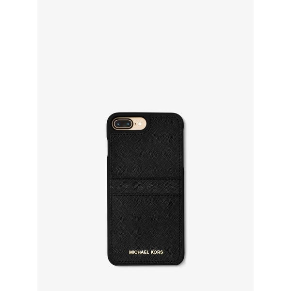 buy online 840d5 abbd0 Shop Michael Kors Saffiano Leather Case with Pockets for iPhone 8 ...