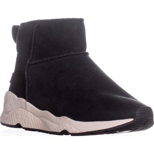 Ash Miko Side Zip Lined Ankle Boots , Black - 10 us / 40 eu
