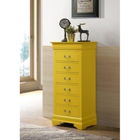 Louis Phillipe Wood 7-drawer Lingerie Chest