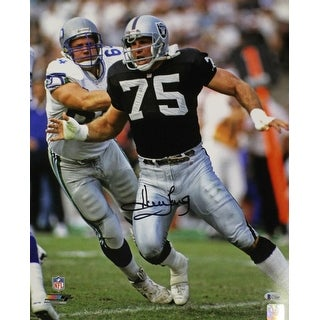 Howie Long Autographed Oakland Raiders 16x20 Photo Vs Seahawks BAS