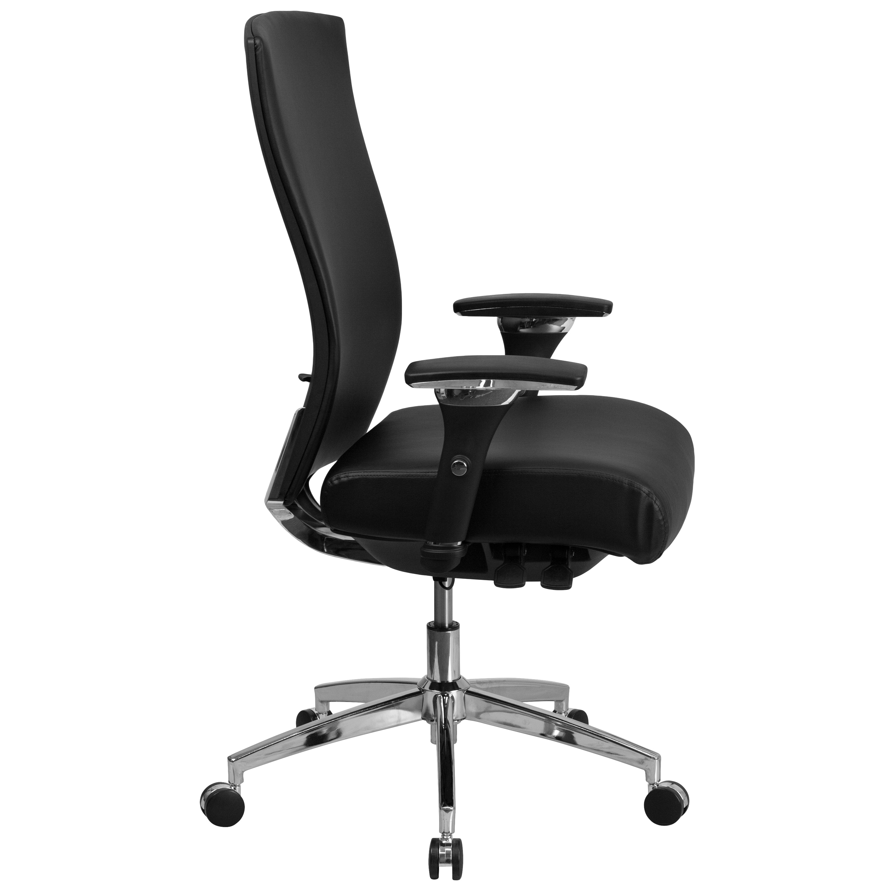 Shop Intensive Use 300 Lb Rated High Back Black Leathersoft Multifunction Chair Overstock 12400789