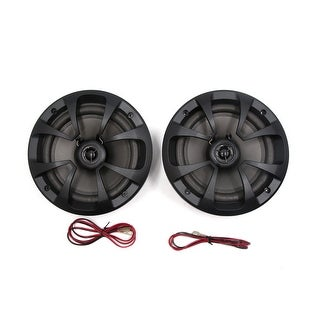 2Pcs Car Audio System 100W 6.5 inches Coaxial Speaker Horn Stereo Black