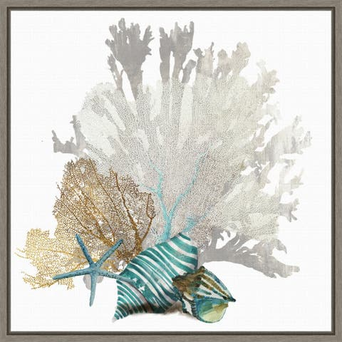 Coral by Aimee Wilson Framed Canvas Art