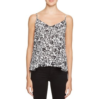 Aqua Womens Camisole Top Double-V Floral Print (4 options available)