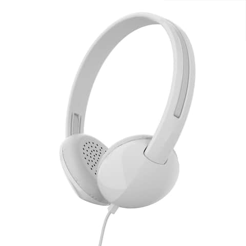 Skullcandy Stim On-Ear Headphone with Built-in Microphone - White/Gray - White - 7.3 x 3.1 x 7.3