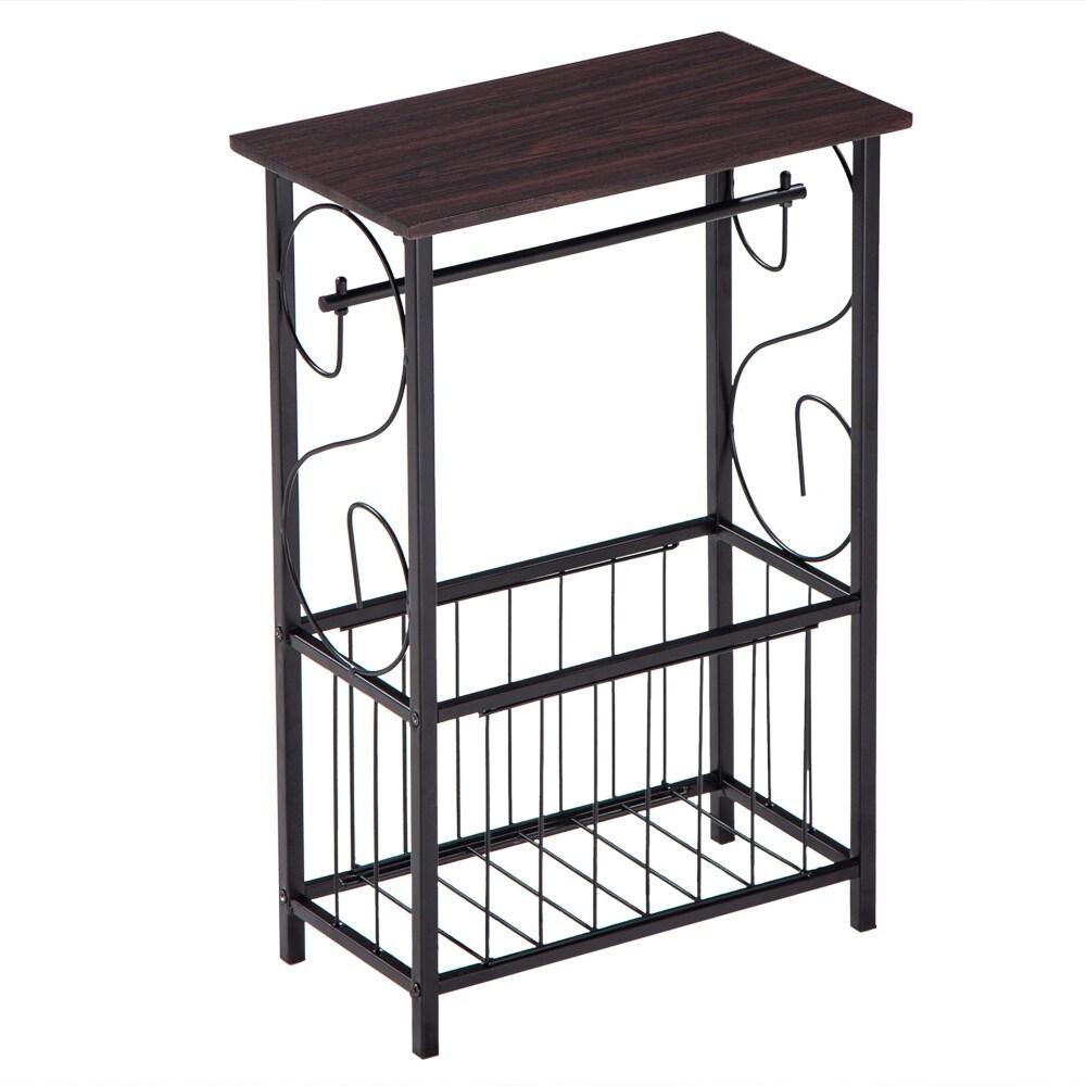 Shop Multifunctional Side Table Bathroom Magazine Rack End Table Overstock 31320957