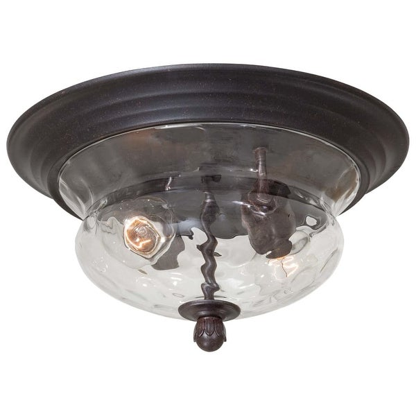 The Great Outdoors GO 8769 2-Light Flush Mount Ceiling Fixture from the Merrimack Collection - corona bronze - n/a