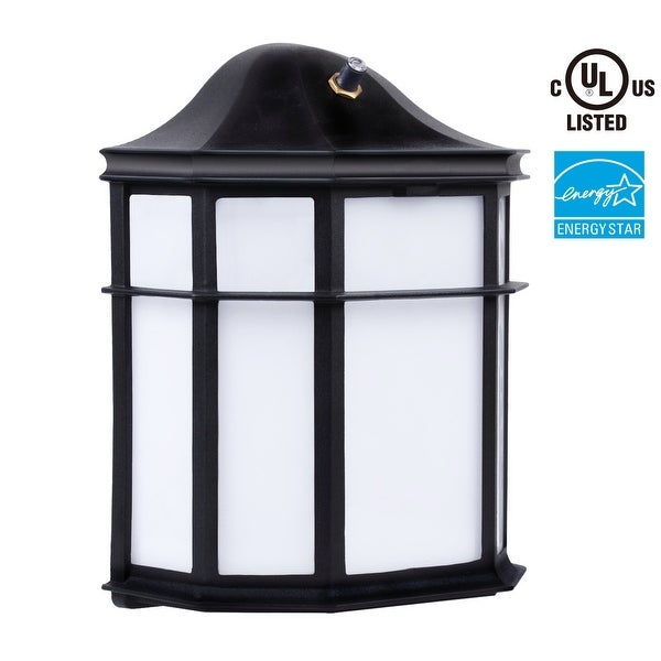outdoor wall lights with photocell wall pack photocell led outdoor wall light 23w energy star5000k daylightwet location shop