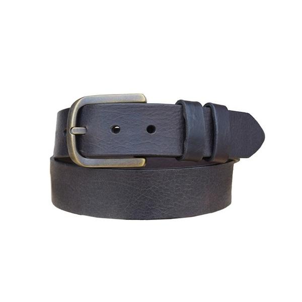Vintage Bison Western Belt Mens Calhoun Leather Chocolate
