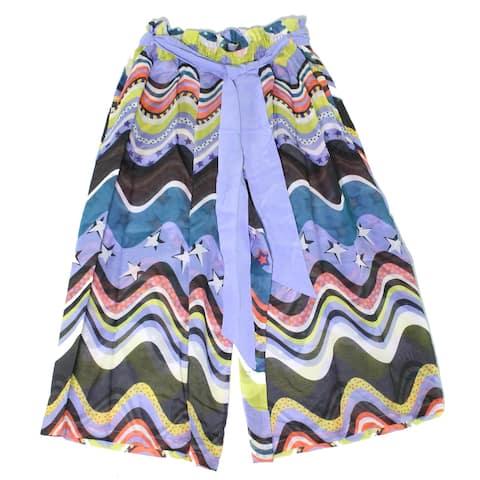 Missoni Womens Swimwear Purple Size Large L Sheer Tie-Waist Wide-Leg