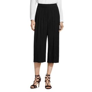 Vince Camuto NEW Black Women's Medium M Pleated Capris Cropped Pants