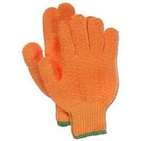 Boss 121-1KC0721-M Orange String Knit Glove Pvc Ribbed, Medium