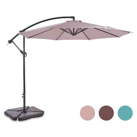 Aspen 10 Ft Offset Cantilever Hanging Patio Umbrella