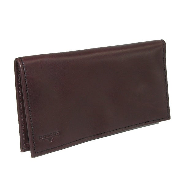 Boston Leather Smooth Leather Checkbook Cover - One size