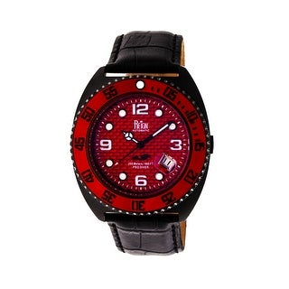 Reign Quentin Men's Automatic Watch, Genuine Leather Band, Sapphire-Coated Crystal, Luminous Hands