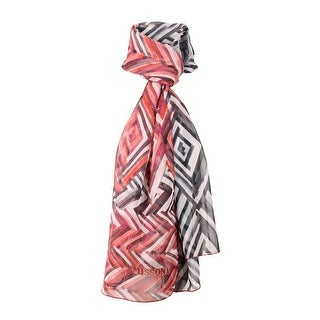Link to Missoni Coral Long Signature Knit Print Silk Foulard Scarf - 28-79 Similar Items in Scarves & Wraps