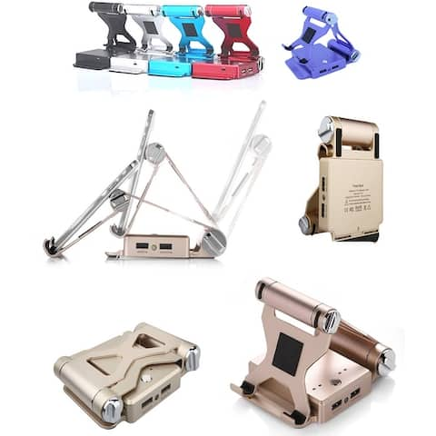 8 Pc Ultimate Essential Bundle Pack For Podium Style Ipad Stand And Charger