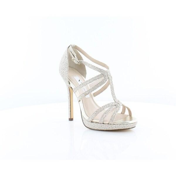Nina Fanetta Women's Heels Silver Diamond GT - 10