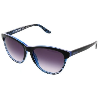 Just Cavalli JC 515S/S 92W Black/Blue Oval Sunglasses - 57-16-140