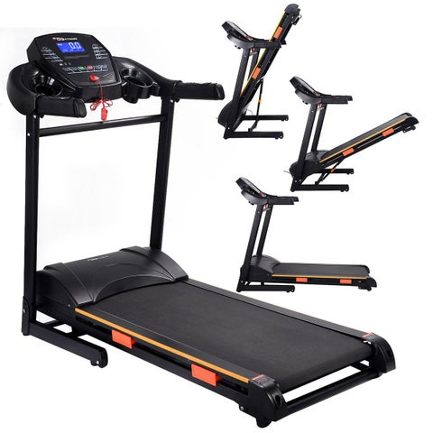 Costway 1000W Folding Electric Treadmill Motorized Power Treadmill Portable Running Gym Fitness Machine