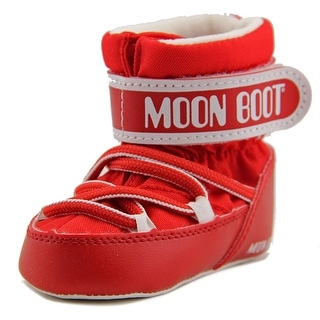 Tecnica Moon Boot Crib Infant Round Toe Canvas Red Winter Boot