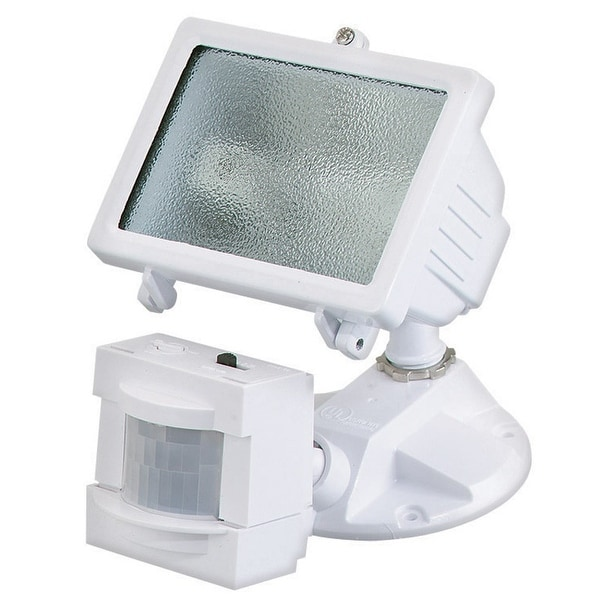 Heath Zenith HZ-5511-WH Motion Sensor Halogen Light, 150 Watts, White
