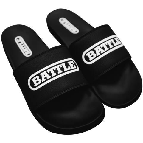 Battle Sports Science Slides 2.0 Footwear - Black/White