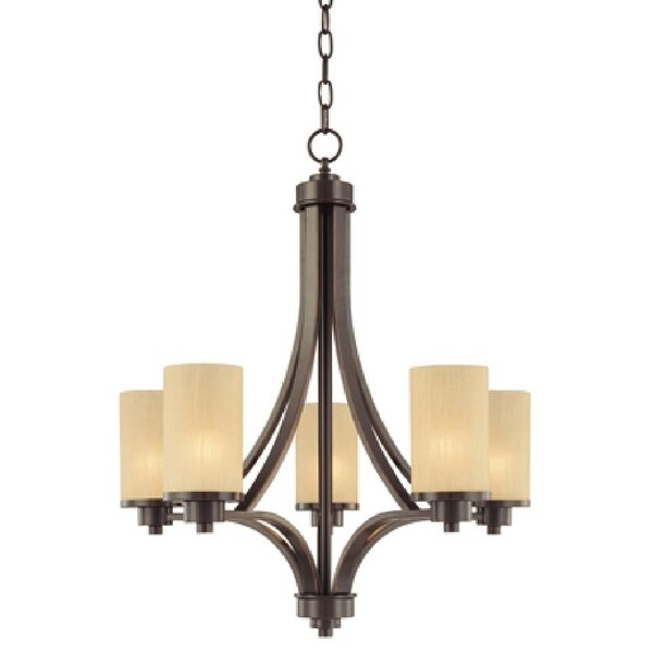 """Artcraft Lighting AC1305 Parkdale Single-Tier Chandelier with 5-Lights - 24"""" Wide"""