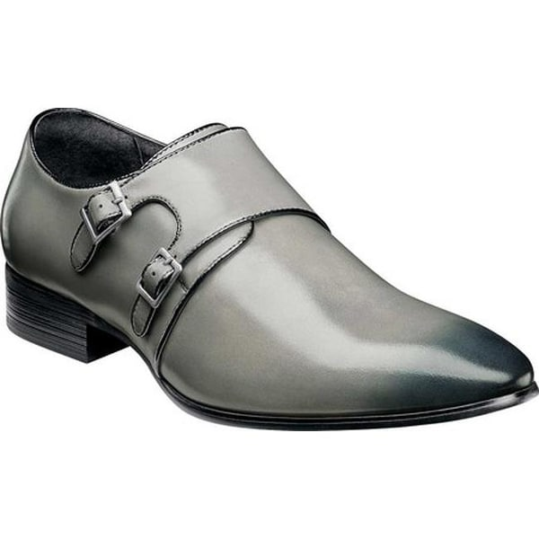 24cb38266c Shop Stacy Adams Men s Vance Double Monk Strap Gray Black Smooth Leather -  On Sale - Free Shipping Today - Overstock - 22866243