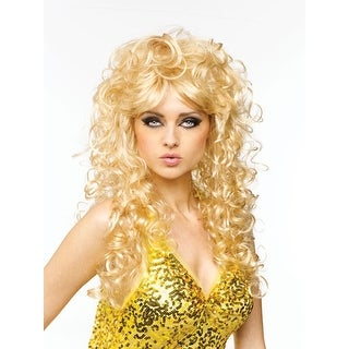 Seductive Womens Sexy Halloween Costume Wig - Blonde