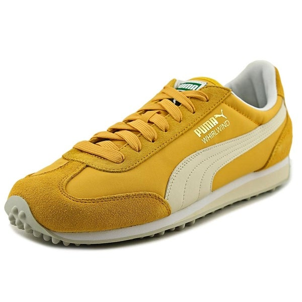 Puma Whirlwind Classic Men Round Toe Suede Yellow Sneakers