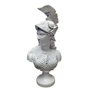 Design Toscano Minerva, Roman Goddess of Wisdom: Bonded Marble Resin Bust