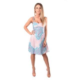Versace Jeans Women Crepe Viscosa Leen Dress Multi-color