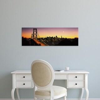Easy Art Prints Panoramic Images's 'Bay Bridge San Francisco CA USA' Premium Canvas Art