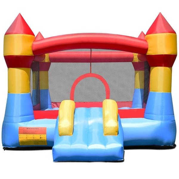 Inflatable Slide Blower: Shop Gymax Inflatable Bounce House Castle Jumper Moonwalk