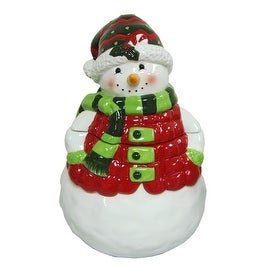 Golly Gee Figural Ceramic Snowman Cookie Jar