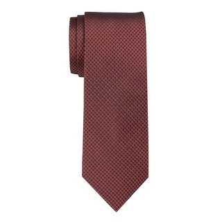 Yves Saint Laurent Neat Triangle Patterned Silk Tie Red & Black Made In France