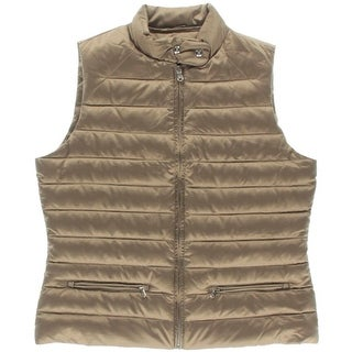 Lauren Ralph Lauren Womens Satin Down Outerwear Vest
