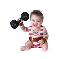 InCharacter Silly Strongman Infant Costume - Red/White