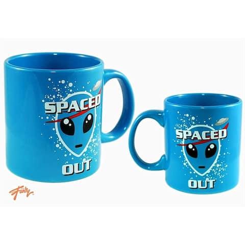 Spaced Out 20oz Ceramic Coffee Mug - Blue