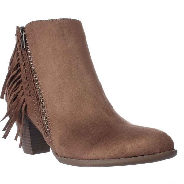 Indigo Rd. Jabaret Fringe Ankle Boots, Light Brown - 9 us