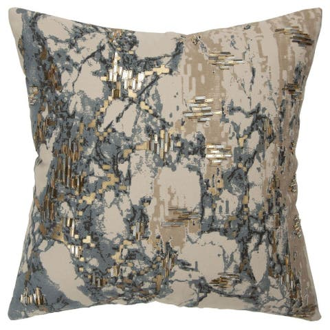 "Rizzy Home Grey Abstract 20""X 20"" Decorative Pillow"