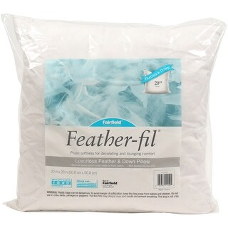 "Fairfield Feather-Fil Feather & Down Pillow Insert-20""X20"" Fob: Mi"