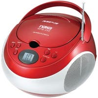 Naxa Portable Cd And Mp3 Players With Am And Fm Stereo (red)