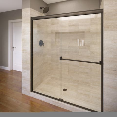 "Basco 3500-44CL Classic 70"" High x 44"" Wide Bypass Framed Shower Door with Clear Glass"