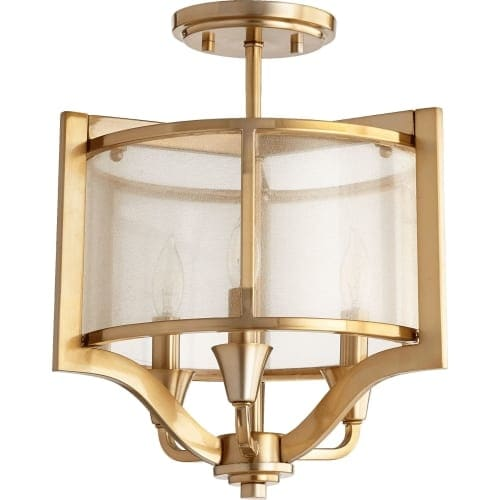 "Quorum International 332-3 Highline 3 Light 13"" Wide Semi Flush Mount Ceiling Fixture"